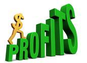 Increasing profits Stock Illustration
