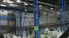 E-Waste recycling factory _roof 1 Stock Footage
