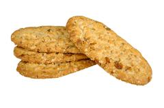 biscuits with cereals - stock photo