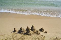 Sand castles Stock Photos