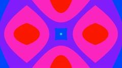 Colourfull kaleida centered Stock Footage