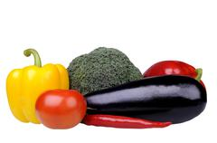 vegetables on white - stock photo