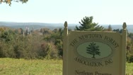 Newtown Forest sign (2 of 2) Stock Footage