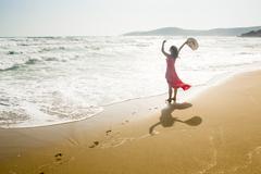 Joyful beach Stock Photos