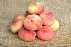 Flat peach Stock Photos