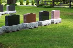 Burial gravestones for sale.JPG - stock photo