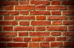 brick background, vignetting - stock photo