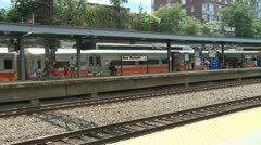 View of New Rochelle station (4 of 6) Stock Footage