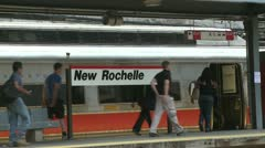 View of New Rochelle station (3 of 6) Stock Footage