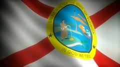 Flag of Florida Stock Footage