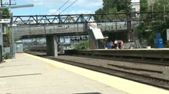 View of New Rochelle station (2 of 6) Stock Footage