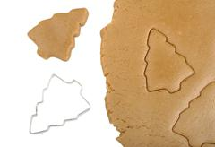 dough and cookie cutter - stock photo