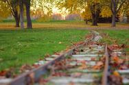 Miniature train track. Stock Photos