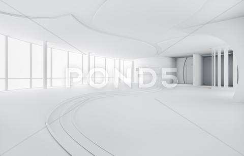 Stock Illustration of abstract interior 3d render