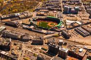 Stock Photo of fenway park aerial