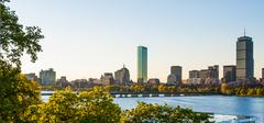 Back bay and charles river afternoon Stock Photos