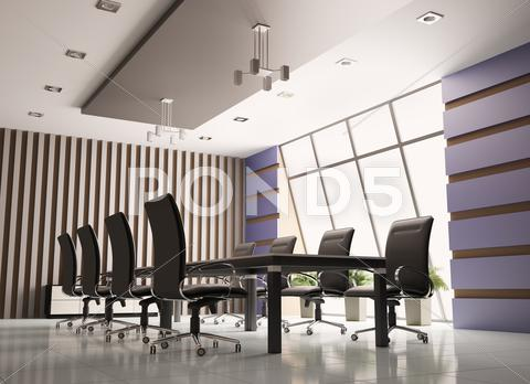 Stock Illustration of conference room