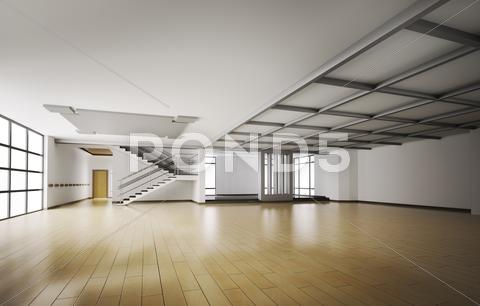 Stock Illustration of empty interior 3d