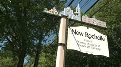 New Rochelle welcome sign (1 of 1) Stock Footage
