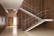 Interior of hall with stairs 3d render Stock Illustration