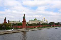 moscow kremlin, the official view - stock photo