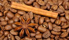 coffee and spices - stock photo