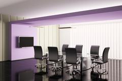 Conference room 3d render Stock Illustration