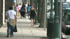 Walking along a city sidewalk (7 of 7) Stock Footage