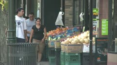 Street fruit vendor (2 of 2) Stock Footage