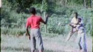 HOME RUN! BASEBALL GAME Black African American 1970 Vintage Film Home Movie 6347 Stock Footage