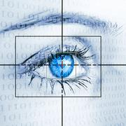 Eye system security identification Stock Photos