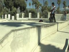 Skate Park - bike ramp jump Stock Footage