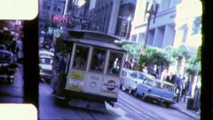 CABLE CAR San Francisco Street 1963 (Vintage Film Old 8mm Home Movie) 6350 Stock Footage