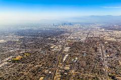 Aerial of los angeles Stock Photos