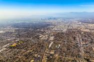 Stock Photo of aerial of los angeles