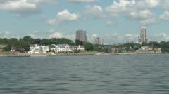 Waterfront buildings (2 of 4) Stock Footage
