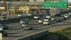 Traffic rack focus Stock Footage