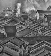 Historic interest in china guangxi yangshuo huangyao Stock Photos