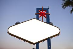 Wekcome to las vegas sign backside text removed with clipping path. Stock Photos