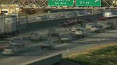 Traffic timelapse with blur Stock Footage