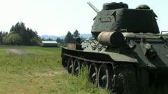 1440 WW2 Tank 8 Stock Footage