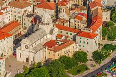 sibenik old town cathedral - stock photo