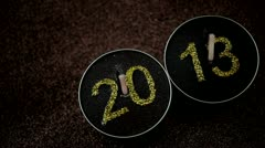 2013 New Year Candles Stock Footage