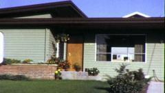 REAL ESTATE Suburban Tract Ranch New Home 1960s (Vintage Film Home Movie) 6370 Stock Footage