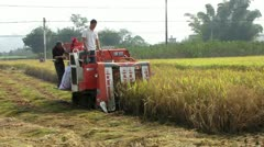 Harvesting machine in China Stock Footage