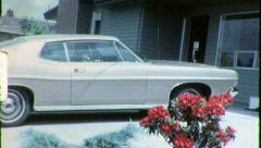 CLASSIC CAR 1970s Chevy Chevrolet Malibu Auto 1970 Vintage Film Home Movie 6371 Stock Footage
