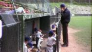 BASEBALL LITTLE LEAGUE Dugout 1960 (Vintage Old Film 8mm Home Movie) 6373 Stock Footage