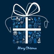 christmas card. - stock illustration