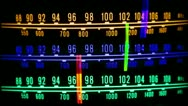 Stock Video Footage of glowing vintage radio dial