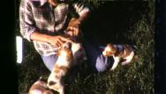 PUPPY LOVE Pet Dogs Puppies 1960 (Vintage Old Film Home Movie Footage) 6378 Stock Footage